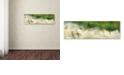 "Trademark Global Cora Niele 'White Tulip Scape' Canvas Art, 16"" x 47"""
