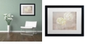 "Trademark Global Cora Niele 'White Hortensia Still Life' Matted Framed Art, 16"" x 20"""
