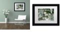 "Trademark Global Jenny Newland 'Winter Companions' Matted Framed Art, 11"" x 14"""