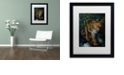 "Trademark Global Jenny Newland 'Watchful Eyes' Matted Framed Art, 16"" x 20"""