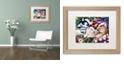 "Trademark Global Jenny Newland 'Meowy Christmas 2' Matted Framed Art, 16"" x 20"""