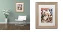 "Trademark Global Jenny Newland 'Puppy Pals' Matted Framed Art, 11"" x 14"""