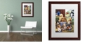 "Trademark Global Jenny Newland 'Puppy Hayday' Matted Framed Art, 16"" x 20"""