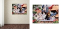 "Trademark Global Jenny Newland 'Springtime Wonders' Canvas Art, 35"" x 47"""