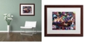 """Trademark Global Jenny Newland 'While Kittens Are Away' Matted Framed Art, 16"""" x 20"""""""