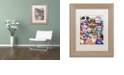 """Trademark Global Jenny Newland 'Working Paws' Matted Framed Art, 11"""" x 14"""""""