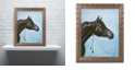 "Trademark Global Jenny Newland 'Black Arabian' Ornate Framed Art, 16"" x 20"""