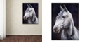 "Trademark Global Jenny Newland 'White Stallion' Canvas Art, 18"" x 24"""
