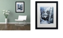 "Trademark Global Jenny Newland 'White Wolf' Matted Framed Art, 16"" x 20"""