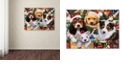 "Trademark Global Jenny Newland 'Puppy Surprise' Canvas Art, 24"" x 32"""