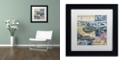 """Trademark Global Nick Bantock 'Cap Cream Blue' Matted Framed Art, 11"""" x 11"""""""
