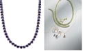 Macy's Amethyst Necklace (30 ct. t.w.) in Sterling Silver (Also Available in Blue Topaz, Peridot, Garnet & Multi-Stone)