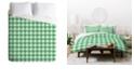 Deny Designs Holli Zollinger Anthology Of Pattern Seville Gingham Green King Duvet Set