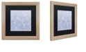 "Trademark Global Color Bakery 'Kasbah Blue Iii' Matted Framed Art, 16"" x 16"""