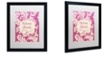 "Trademark Global Color Bakery 'Welcome Flag Pink' Matted Framed Art, 16"" x 20"""
