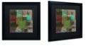 "Trademark Global Color Bakery 'Afrikan Batik Iii' Matted Framed Art, 16"" x 16"""