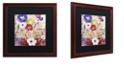 "Trademark Global Color Bakery 'Sevilla Iii' Matted Framed Art, 16"" x 16"""