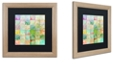 """Trademark Global Color Bakery 'Paintbox' Matted Framed Art, 16"""" x 16"""""""