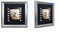 "Trademark Global Color Bakery 'Vintage Countdown Ii' Matted Framed Art, 16"" x 16"""