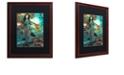 "Trademark Global Color Bakery 'Art Nouveau Zodiac Pisces' Matted Framed Art, 16"" x 20"""