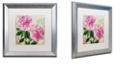 "Trademark Global Color Bakery 'Sonata I' Matted Framed Art, 16"" x 16"""