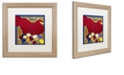 "Trademark Global Color Bakery 'Poulets Ii' Matted Framed Art, 16"" x 16"""