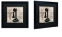 """Trademark Global Color Bakery 'Call Waiting I' Matted Framed Art, 16"""" x 16"""""""