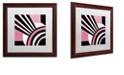 "Trademark Global Color Bakery 'Daring Deco I' Matted Framed Art, 16"" x 16"""