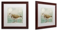 "Trademark Global Color Bakery 'Sand Piper Ii' Matted Framed Art, 16"" x 16"""
