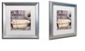 "Trademark Global Color Bakery 'Le Bain Paris Ii' Matted Framed Art, 16"" x 16"""