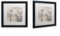 "Trademark Global Color Bakery 'Flowering Herbs Iii' Matted Framed Art, 16"" x 16"""