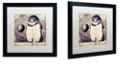 "Trademark Global Color Bakery 'Moon Owl' Matted Framed Art, 16"" x 16"""