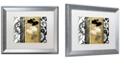 "Trademark Global Color Bakery 'Gardenscape I' Matted Framed Art, 16"" x 20"""