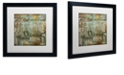 """Trademark Global Color Bakery 'Cities Of The World Iv' Matted Framed Art, 16"""" x 16"""""""