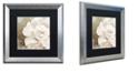 "Trademark Global Color Bakery 'Petals Impasto Ii' Matted Framed Art, 16"" x 16"""