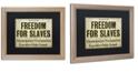"Trademark Global Color Bakery 'Emancipation' Matted Framed Art, 16"" x 20"""