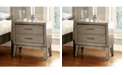 Benzara Contemporary Style Night Stand, Gray