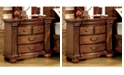 Benzara Transitional Style Night Stand, Antique Tobacco Oak