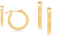 Macy's Children's Textured Hoop Earrings in 14k Gold