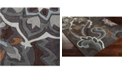 "Surya Cosmopolitan COS-9210 Charcoal 18"" Square Swatch"