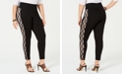 INC International Concepts I.N.C. Shaping Plus-Size Lace-Stripe Leggings, Created for Macy's