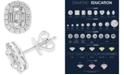 EFFY Collection EFFY® Diamond Baguette Halo Stud Earrings (1/2 ct. t.w.) in 14k White Gold