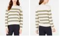 Weekend Max Mara Striped Crewneck Wool-Blend Sweater