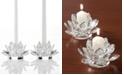 Godinger Lighting by Design Candle Holders, Set of 2 Lotus ...