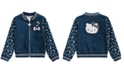 Hello Kitty Little Girls Denim Knit Jacket