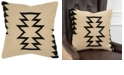 """Rizzy Home 18"""" x 18"""" Large Arrow motif with offset arrow stripes Pillow Collection"""
