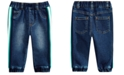 First Impressions Baby Boys Side-Stripe Jeans, Created for Macy's