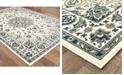 """Oriental Weavers Marina 1248W Ivory/Navy 7'10"""" Indoor/Outdoor Round Area Rug"""