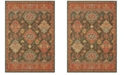 "Oriental Weavers Toscana 9570B Charcoal/Orange 2'3"" x 7'6"" Runner Area Rug"