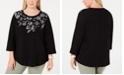 Karen Scott Plus Size Floral Top, Created for Macy's